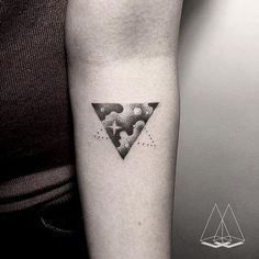 Zoe triangle #tat #tattoo #tattoostagram #geometry #sacredgeometry #dotwork #linework #triangle #space #star #ink #inked #minimal #geometrictattoo #vscom #istanbul #dovme #tattooartists #art