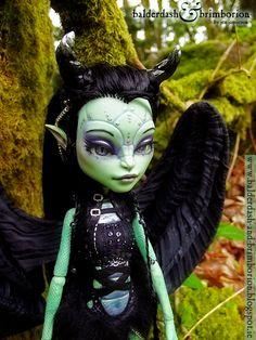 Monster High doll customization commission by *jen-jamieson on deviantART