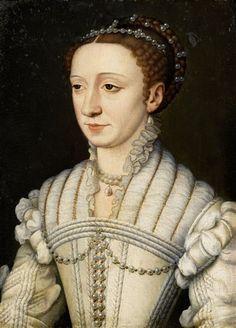 Portrait of Margaret of France by François Clouet