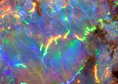 Close up of opal ... Love this cause its my birth stone :)