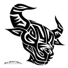 nice-tribal-bull-tattoo-image.jpg (894×894)