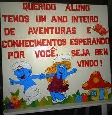 School Decorations, Smurfs, Activities, Teaching, Children, Fictional Characters, 1, Blog, Housewarming Card