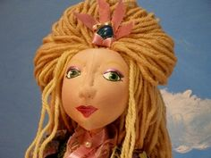 Articulated cloth art doll Claire by DollsByJax on Etsy - Created by Jax Rula