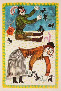 János Vitéz - Reich Károly illusztrációja Children's Book Illustration, Watercolor Illustration, Sketchbook Inspiration, Illustrations And Posters, Childrens Books, Illustrators, Fairy Tales, Father, Animation