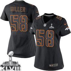 Von Miller Limited Jersey-80%OFF Nike Impact Von Miller Limited Jersey at Broncos Shop. (Limited Nike Women's Von Miller Black Super Bowl XLVIII Jersey) Denver Broncos #58 NFL Impact Easy Returns.
