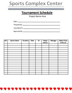 Tournament schedule template is a very organized way to manage all tournament schedule template is a very organized way to manage all the sports names that are included in a tournament to organize different sports pronofoot35fo Gallery