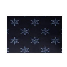 e by design Flurries Decorative Holiday Print Navy Blue Area Rug
