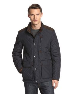 nice Vince Camuto Quilted Jacket with Faux Suede