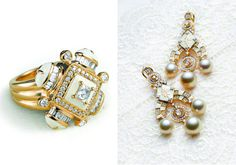 ring & earings by tanishq- gold jewellery