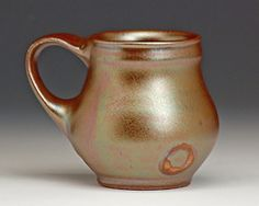 Mug, by Bruce Gholson lustre shino on stoneware, Seagrove, NC
