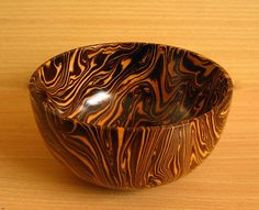 Wooden bowl mango wood Beautiful real usage 7""