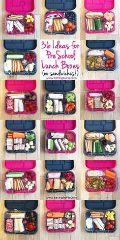Lunchbox Ideas for PreSchoolers - with no boring sandwiches! Inspiration for more interesting pack ups for kids | http://www.tamingtwins.com