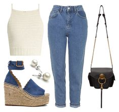 """""""Untitled #21852"""" by florencia95 ❤ liked on Polyvore featuring Chloé, Topshop and SHE MADE ME"""