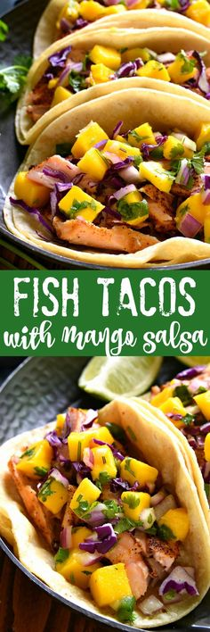 These Fish Tacos combine the deliciousness of salmon with the fun of mango salsa! They're super easy to make and perfect for the warmer months ahead....sure to become a new favorite! /picknsave/ #mypicknsave #ad