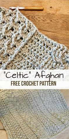afghan patterns Celtic afghan is one of the most awesome crochet project. Today we found for you this amazing Celtic Afghan. It is ideal for long winter evenings. It gives you a lot of Crochet Afghans, Motifs Afghans, Bag Crochet, Crochet Cable, Manta Crochet, Afghan Crochet Patterns, Crochet Shawl, Crochet Crafts, Crochet Yarn