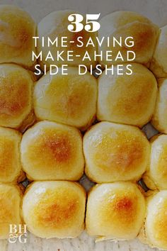 This make-ahead dinner roll recipe requires only 12 minutes in the oven, so it won't take up too much valuable oven space. #thanksgiving #sides #thanksgivingsides #makeaheadrecipes #thanksgivingdinner #bhg Thanksgiving Dinner Plates, Thanksgiving Recipes, Holiday Recipes, Thanksgiving Sides, Homemade Dinner Rolls, Dinner Rolls Recipe, Roll Recipe, Recipes Dinner, Steak Dinner Sides
