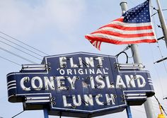 Flint Original Coney Island Lunch, Flint, MI.  Best coney islands ever.