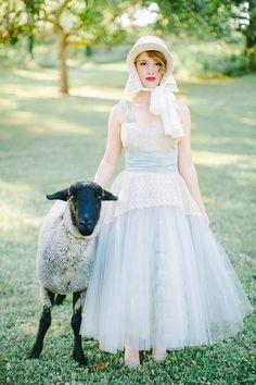 Little Bo Peep inspired wedding shoot
