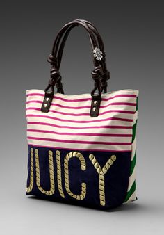 Juicy Couture Sailor Girl Canvas Tote...   $128.00