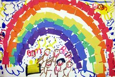 Rainbow collage @ Mrs. Brown's art class