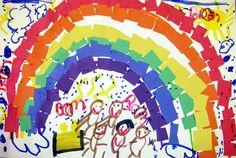 Rainbow collage @ Mrs. Brown's art class