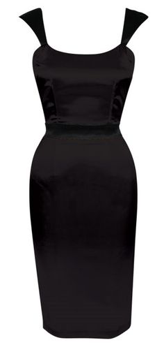 Reminiscent of a 1950's wiggle dress. Love it, so body hugging you can only wiggle in it, yes please!