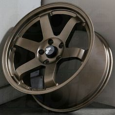 Matte Bronze Wheels 35 (Set of Bronze Wheels, Mustang, Convertible, Wheels And Tires, Automotive Industry, 3d Printer, Car, Money, Signs