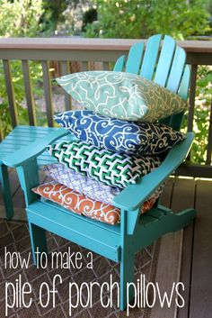 how to make a pile of outdoor pillows kojo designs