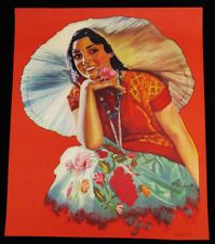 VINTAGE A. GOMEZ 1930S MEXICAN ART DECO PIN UP PRINT ICON OF MEXICO BEAUTY RARE