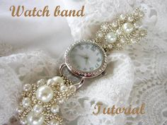 PDF tutorial lace beaded watch band _ russian by BeadsMadness