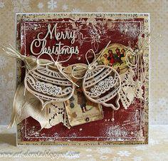 Fabulous Dorota Handmade Shabby Chic Christmas Card 2014 #dorota #shabbychic #christmascard