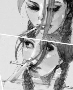 Kaya Scodelario lol she looks like me haha Art Beat, Creation Art, Kaya Scodelario, Girl Smoking, Les Aliens, Yandere, Art Reference, Amazing Art, Painting & Drawing