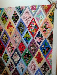 Bordered Diamond Quilt by simple girl, simple life, via Flickr