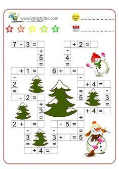 English Worksheets For Kids, English Lessons For Kids, Montessori Math, Math Literacy, Christmas Activities For Kids, Math For Kids, Educational Activities, Preschool Activities, Teaching Kids