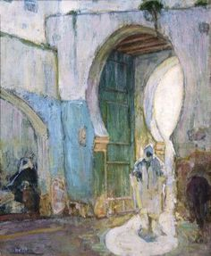 Henry Ossawa Tanner - Entrance to The Casbah...this is Tangier, Morocco! I recognize that gate because I lived there.