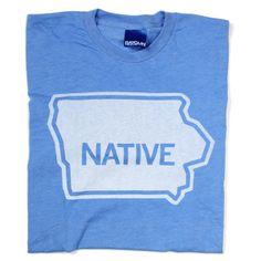 Native Iowan - Raygun shirt