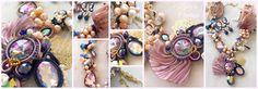soutache shibori pearl crystal necklace handmade zephyra creations