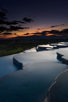What a sunset in #Pamukkale!