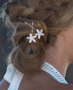 Bridal Starfish Hair Pins Set Of 4 Wedding Jewelry Accessory Hairpins Beach Weddings And