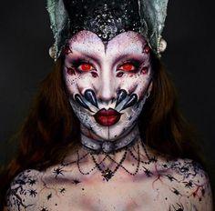 Arachnid Queen Halloween makeup