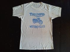 lucky brand ~ triumph motorcycle ~ worlds fastest ~ white shirt
