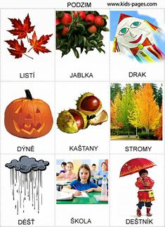 Pro Štípu: Rocni obdobi - obrazky Autumn Activities For Kids, Outdoor Activities, Weather For Kids, Language Dictionary, Learning English For Kids, Picture Composition, Seasons Of The Year, Preschool Themes, Holidays And Events