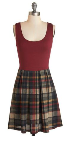 Burgundy and plaid skater dress! If you like my pins, please follow me and subscribe to my fashion channel on youtube! It's free! Let me help u find all the things that u love from Pinterest! https://www.youtube.com/channel/UCCP8TXebOqQ_n_ouQfAfuXw