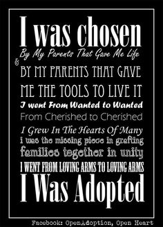 Discover and share Quotes From Adoptee Adoption. Explore our collection of motivational and famous quotes by authors you know and love. Adoption Quotes, Adoption Gifts, Adoption Party, Adoption Cake, Adoption Tattoo, Newborn Adoption, Open Adoption, Foster Care Adoption, Foster To Adopt