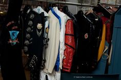 A variety of military-inspired jackets with a rock 'n roll vibe as worn by  Michael Jackson and designed by Michael Bush, author of The King of Style (Insight Editions, 2012) that won the 2103 Independent Publisher Book Awards gold medal, the top honor in the pop culture/leisure category of the awards. The book is currently available at www.dressingmichaeljackson.com and at book stores. Bush served as Michael Jackson's long time personal designer for 25 years. Photo: Michaelbush, Courtesy…