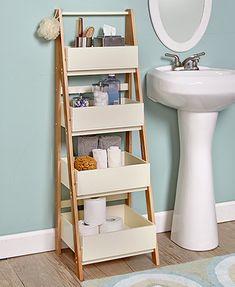 Two-Tone Ladder Shelves