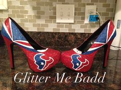 Houston Texans Glitter Heel made by Glitter Me Badd #texans