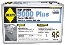 Sakrete 5000 Plus High Strength Concrete Mix is excellent for concrete countertops and other concrete decorative items