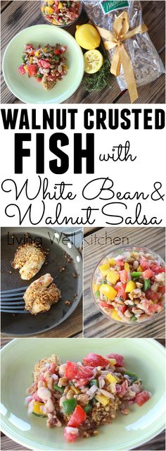 Walnut Crusted Fish with White Bean and Walnut Salsa from @memeinge is a delicious dish full of omega-3 fatty acids, fiber, and tons of tasty summer veggies. This tasty meal is gluten free, egg free, and can be dairy free. (sponsored)