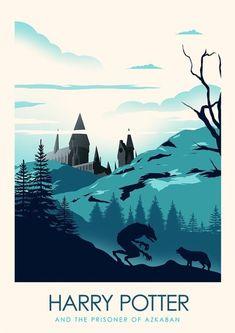 Harry Potter Minimalist Poster Series - Created by Ciaran MonaghanPrints availab. - Harry Potter Minimalist Poster Series – Created by Ciaran MonaghanPrints available for sale at his - Harry Potter Poster, Harry Potter Books, Illustrations Harry Potter, Illustrations Posters, Capas Kindle, Castle Painting, Desenhos Harry Potter, Prisoner Of Azkaban, Harry Potter Wallpaper